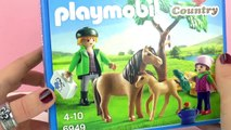 PLAYMOBIL PONY MAMA WITH FOAL | Veterinarian comes to see ponies | Demo