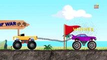 Tug Of War | Monster Trucks | Monster Truck VS Monster Truck | Trucks Cartoon