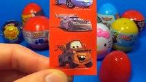 18 Surprise eggs Kinder Surprise SpongeBob Disney PLANES Cars HELLO KITTY SPIDER MAN TOY Story
