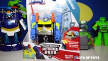 Mystery of the Polluted Park! Transformers Rescue Bots, Salvage the Garbage Truck and Paw Patrol