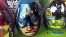 Easter Eggs Surprise Opening 2016 Marvel SuperHeroes Toys Batman vs Superman Hulk Iron Man Advengers