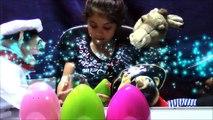 Open 4 Giant Surprise Eggs With Vampire Dolls 3 Puppets   Unboxing 4 GIANT SURPRISE EGGS WITH DOLLS