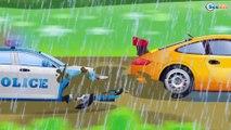 Drôle de Tracteur Jaune! Vidéo Éducative Jeu d'assemblage: Voitures de construction Pour Enfants