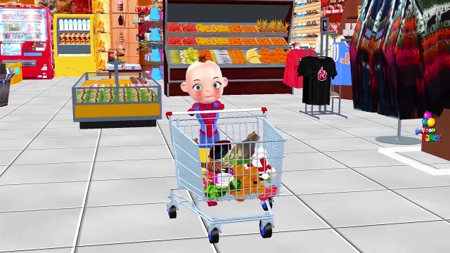 Little Spider Baby Trolley Shopping Grocery Store Toy Shopping Cart Vegetable Fruits Play Doh