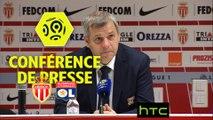 Conférence de presse AS Monaco - Olympique Lyonnais (1-3) : Leonardo JARDIM (ASM) - Bruno GENESIO (OL) - 2016-17