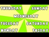 Days of the week song | 7 Days of the Week | Learn days of the week
