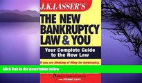 Buy Nathalie Martin;Stewart Paley J.K. Lasser s The New Bankruptcy Law and You by Nathalie Martin