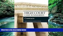 Buy Publisher s Editorial Staff High Court Case Summaries on Contracts, Keyed to Farnsworth Full