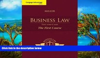 Online Roger LeRoy Miller Cengage Advantage Books: Business Law: Text and Cases - The First Course