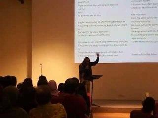 Art Fazil performs Masuri SN's poem: Bangun Negara Ku