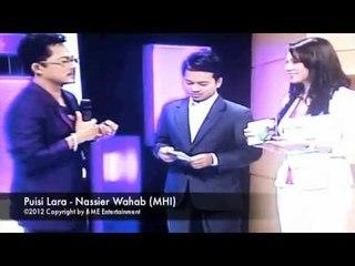 Nassier Wahab Sing Puisi Lara at MHI TV3 (23 April 2012)