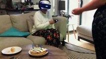 Quand mamie devient folle après avoir joué à un jeu video en réalité virtuelle - parodie