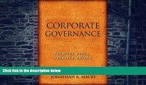 Buy NOW  Corporate Governance: Promises Kept, Promises Broken Jonathan R. Macey  Book