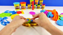 45 Piece Play Doh Zoo Adventure Elephant Turtle Owl Playdough Molds Aventura Zoológico Plastilina