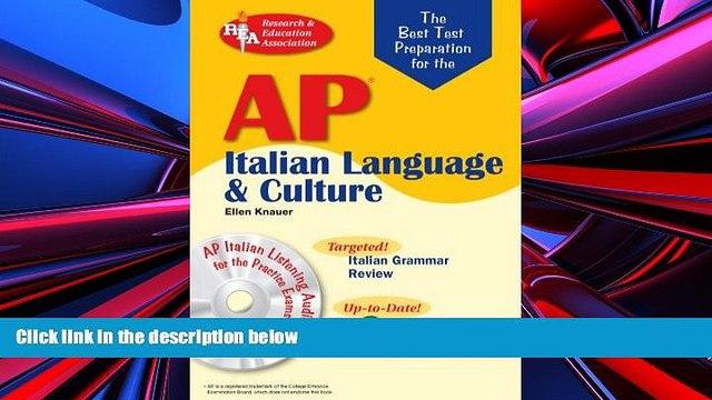 Download Ellen Knauer AP Italian Language and Culture w/ Audio CDs (Advanced Placement (AP) Test