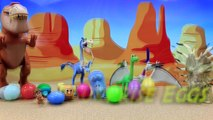 The Good Dinosaur Forrest Woodbrush Surprise Egg Party with Arlo and Butch Giving Dinosaur Eggs