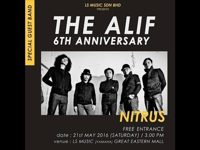 Persembahan Nitrus di The Alif 6th Anniversary