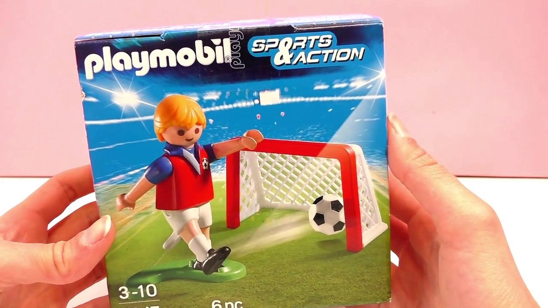 Playmobil Fussball Deutsch Fussballtraining Torschuss Mit Der 7 Von Manu Mit Tor Und Fussball