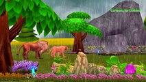 Lion Cartoons for Children | Lion Rain Dance for Rain Rain Go Away Nursery Rhyme For Children