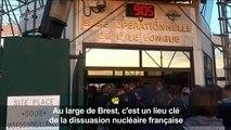 Brest: rare visite dans une base de sous-marins nucléaires