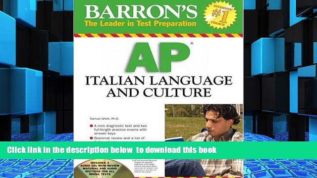 PDF [DOWNLOAD] Barron s AP Italian Language and Culture: with Audio CDs BOOK ONLINE
