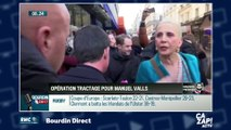 Manuel Valls pris à partie sur les marchés parisiens