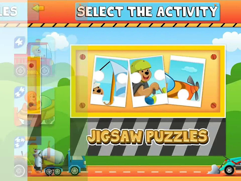Trucks Activity Center for kids
