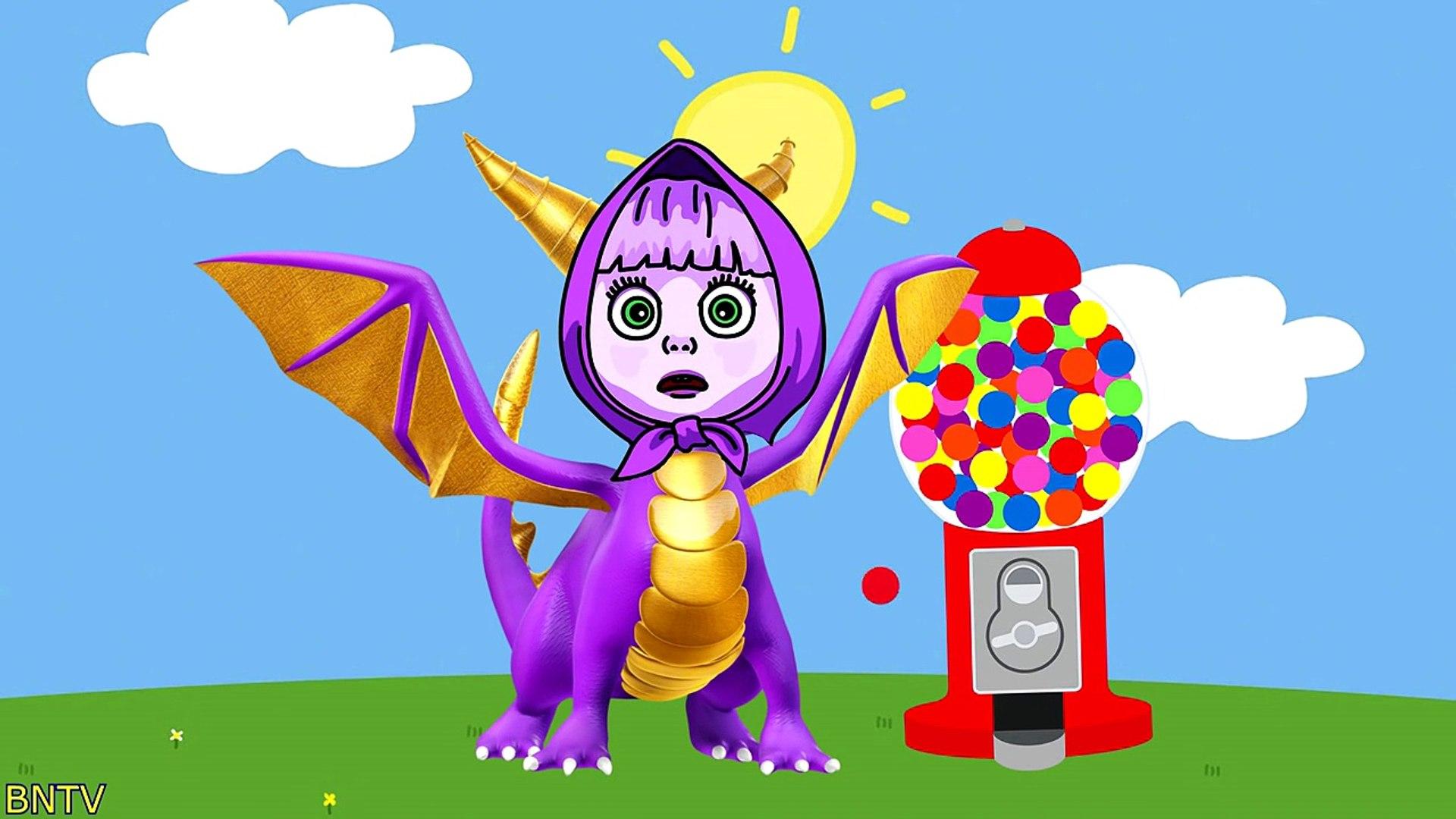 Masha And The Bear Magic Gumball Machine Parody