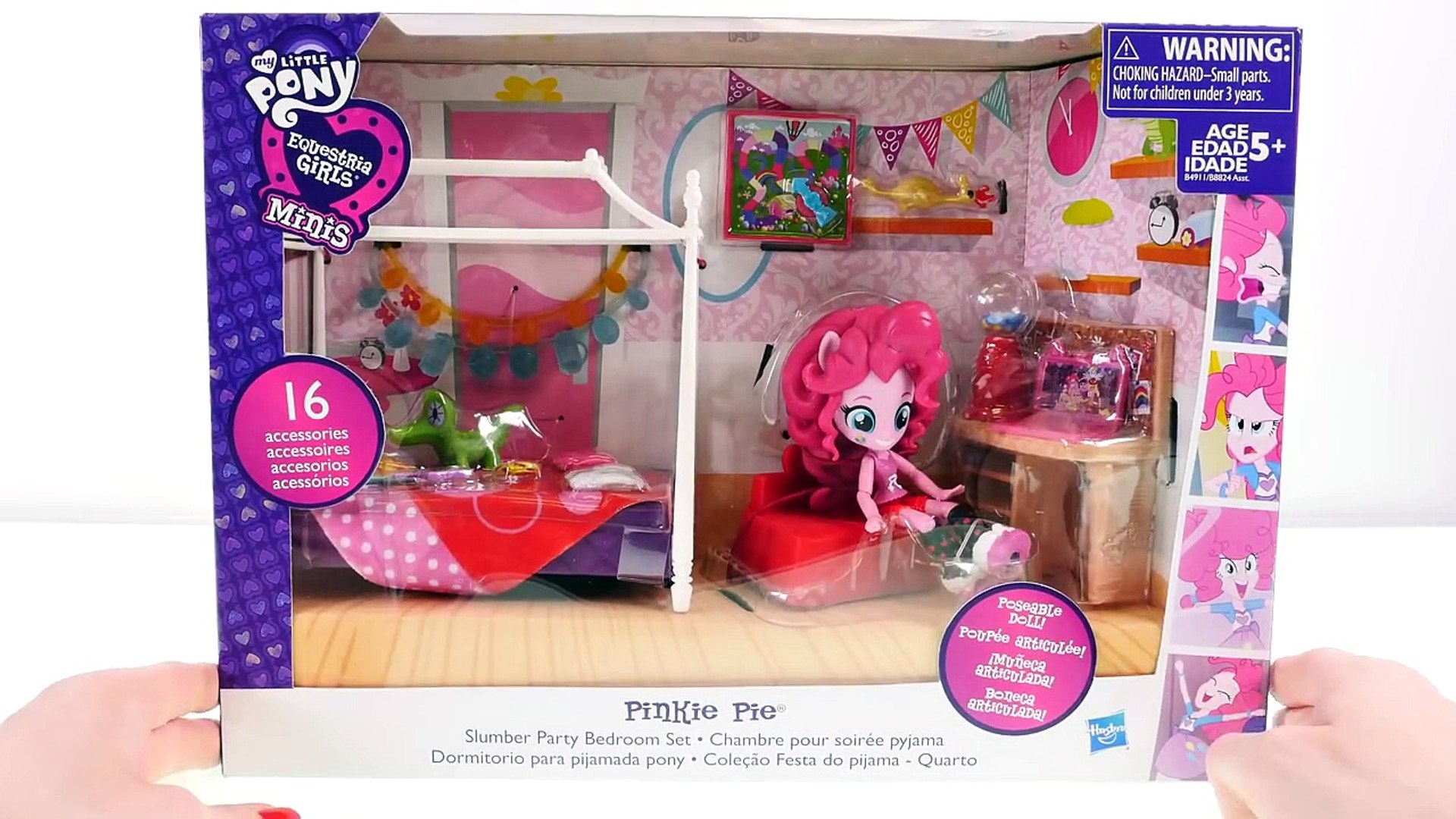 My Little Pony Equestria Girls minis Pinkie Pie Slumber Party Chambre