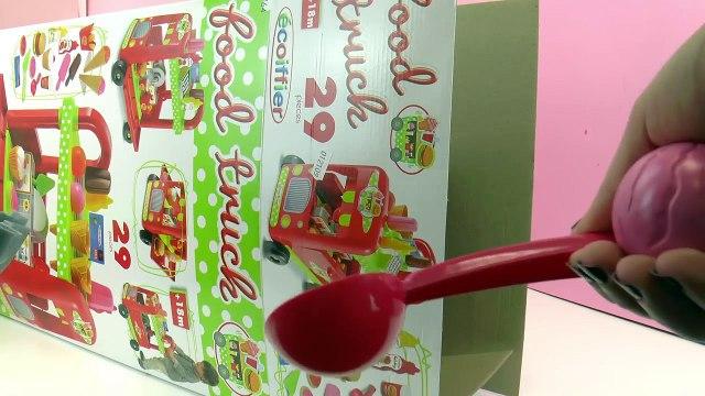 Food Truck - Burger, Frites, Glaces et Cupcakes à vendre dans un petit chariot Fast Food | Unboxing