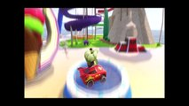 Incredible Hulk and Donald Duck adventure with Disney Cars, McQueen Pixar Cars o