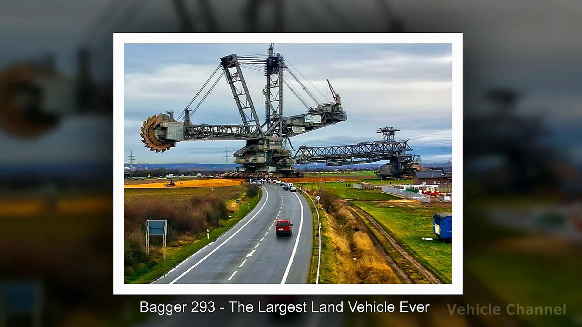 The Largest Land Vehicle Ever Bagger 293 Bucket Wheel Excavator Video Dailymotion