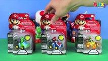 Fun Mario Coin Racers! | World of Nintendo toy unboxing & stunt racing play with Yoshi & Luigi!