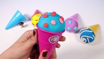 Play-Doh Ice Cream Cone Surprise Eggs Disney Eggs Play Doh Eggs Toy Videos