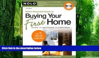Buy NOW  Nolo s Essential Guide to Buying Your First Home Ilona Bray J.D.  Full Book