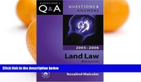 Buy Margaret Wilkie Questions   Answers Land Law 2005-2006 (Blackstone s Law Questions and