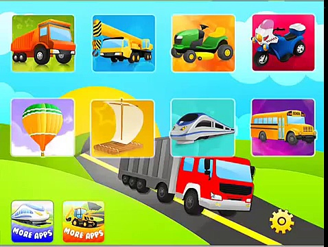 Trucks Flashcards | Trucks for kids | First Words Trucks for Children | Trucks Games
