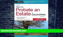 Buy  How to Probate an Estate in California (How to Probate an Estate in Calfornia) Julia Nissley