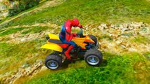Tractors Funny Party with Spiderman Color Cars & Trucks Nursery Rhymes Children Songs