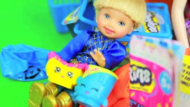 Disney Elsa Shopping with TOBY Play Doh Frozen SHOPKINS Surprise Egg