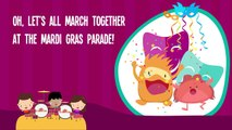 Mardi Gras Music for Kids | Mardi Gras Dance | Mardi Gras Theme Song Lyrics