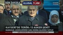Başbakan Binali Yıldırım, Kayseri'deki saldırıya ilişkin açıklama yaptı   Siyaset Videolar | www.ulusalturk.com