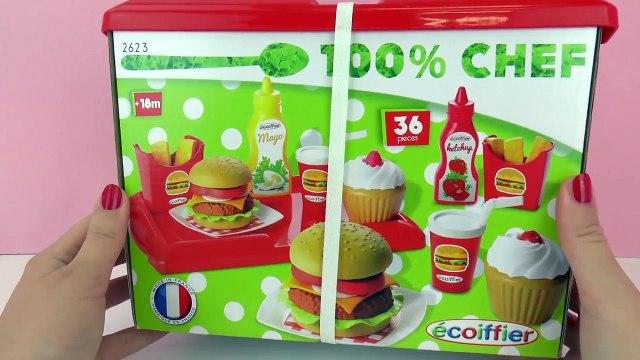 Play Burger Shop | Cheeseburger, fries, Cola and Cupcakes | Fast food