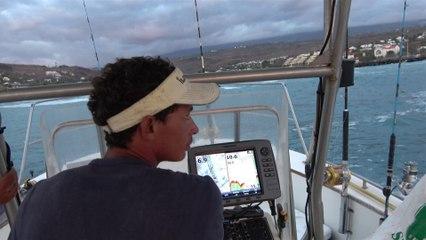 Partie de pêche en mer à St Gilles les Bains (Réunion)