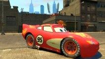 WOODY & SPIDERMAN Rampe de skate, et conduite avec 6 Flash McQueen de Cars 2