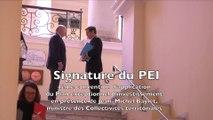 Visite de Jean-Michel Baylet et signature du PEI