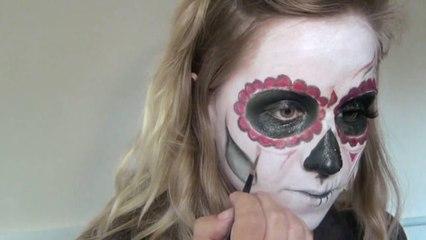 Sugar Skull Día de los Muertos - Day of the Dead Makeup Tutorial