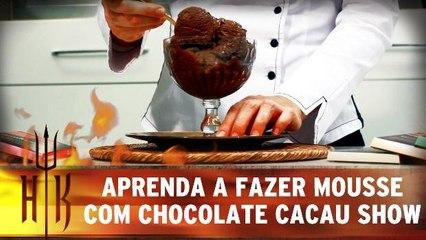 Aprenda a fazer mousse com chocolate Cacau Show