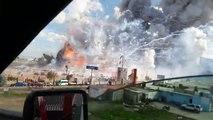 L'explosion d'un marché de feux d'artifice !