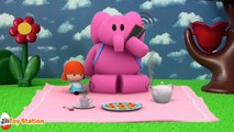 Five Little Pocoyo Jumping on the Bed Nursery Rhyme | Five Little Monkeys Jumping on the Bed